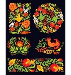 khokhloma pattern design vector image
