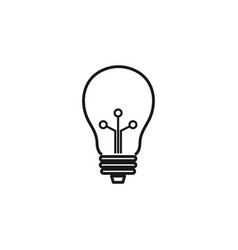 lamp icon design template vector image