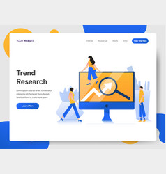 landing page template trend research concept vector image