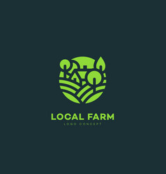 Local farm logo vector