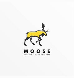 Logo moose pose mascot cartoon vector