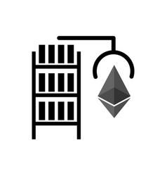 mining etherium farm icon extraction of vector image