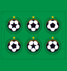 Modern professional set of balls emblem and vector