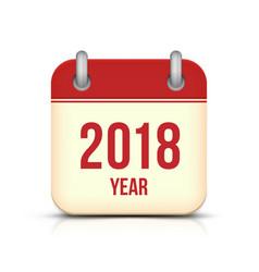 New year 2018 calendar icon vector
