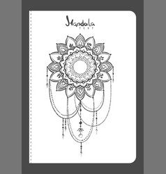 notebook mehndi pattern vector image