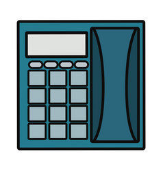 office telephone icon vector image