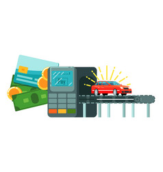 online rent citycar payment service icon vector image