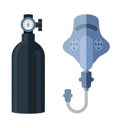 oxygen tank icon vector image