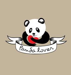 Panda lover vector