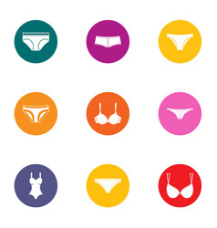 pants icons set flat style vector image