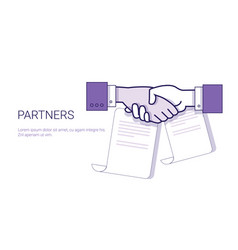 partners handshake icon business concept vector image