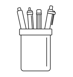 pens set icon outline style vector image