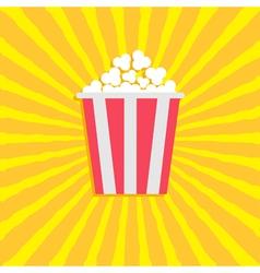 Popcorn Cinema movie icon in flat design style vector