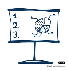 Presentation screen with graphic diagram vector image