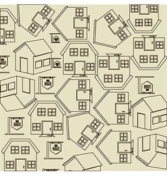 Real estate over beige background vector