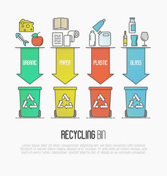 recycling ecological concept vector image
