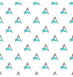 Rocket swing pattern cartoon style vector image