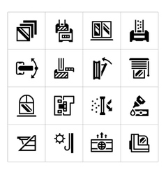 Set icons of modern window vector