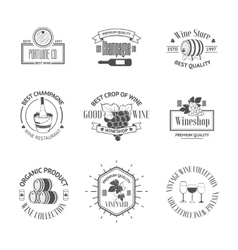 Set of elegant wine badges and labels Vintage vector