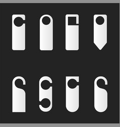Set of hotel room door hangers vector