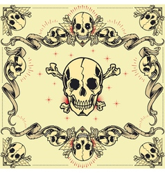 Skull and Ribbon Frames vector