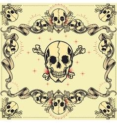 Skull and Ribbon Frames vector image