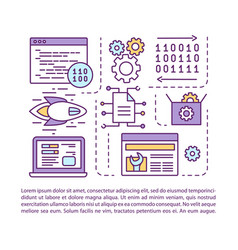 Software development article page template vector