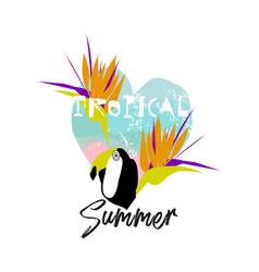 Tropical cartoon jungle vector