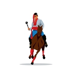 Ukrainian Cossak rider Cartoon vector image