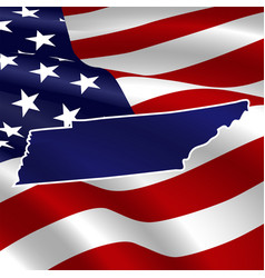 United states tennessee dark blue silhouette vector