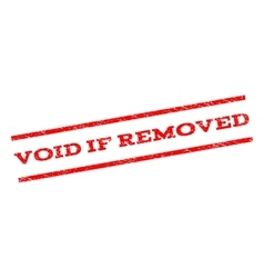 Void If Removed Watermark Stamp vector image