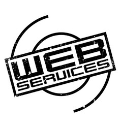 web services rubber stamp vector image