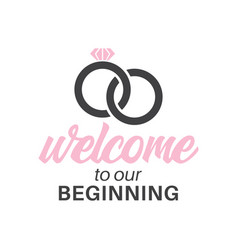 Welcome to our beginning quote typography vector