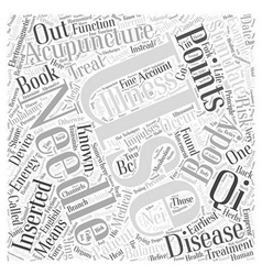What is acupuncture word cloud concept vector
