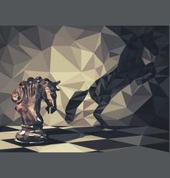 wild knight vector image