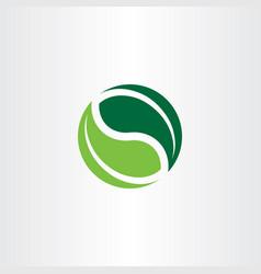 bio logo element green leaves icon vector image