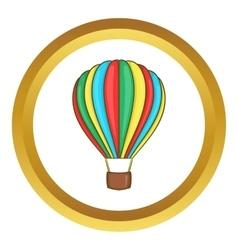 Colorful air balloon icon vector image
