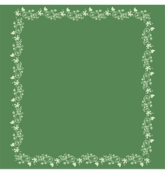 frame floral background vector image