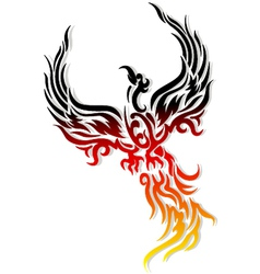 Mythical phoenix bird vector image