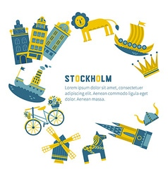 Stockholm design elements vector