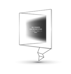 Blurred Bubble frame vector image vector image