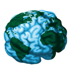 brain world globe vector image vector image