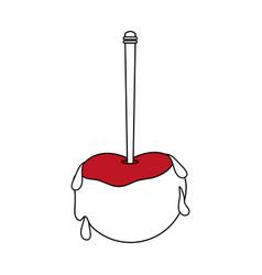Caramel apple icon design vector