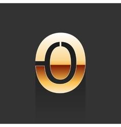 Gold Letter O Shape Logo Element vector image vector image