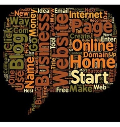 How To Start An Online Home Business With Little vector image vector image