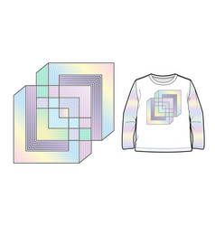 multicolored abstract geometric composition vector image