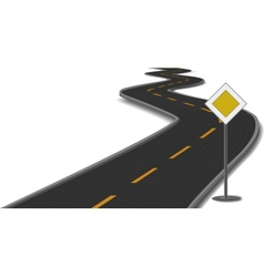 road with main-road sign vector image