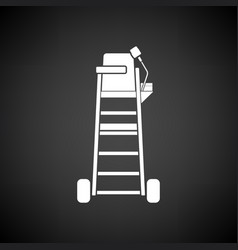 Tennis referee chair tower icon vector