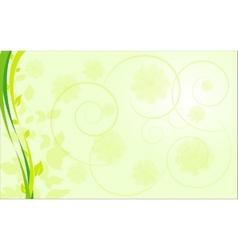 abstract ecological border with plants vector image