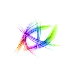 abstract shapes on white rainbow vector image vector image